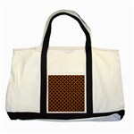 CIRCLES3 BLACK MARBLE & RUSTED METAL (R) Two Tone Tote Bag