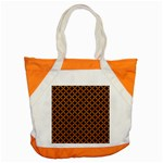 CIRCLES3 BLACK MARBLE & RUSTED METAL (R) Accent Tote Bag