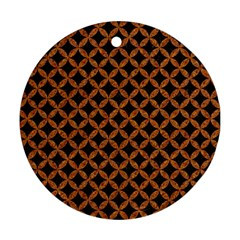 Circles3 Black Marble & Rusted Metal (r) Round Ornament (two Sides) by trendistuff