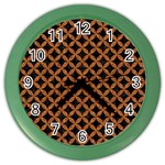 CIRCLES3 BLACK MARBLE & RUSTED METAL (R) Color Wall Clocks