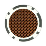 CIRCLES3 BLACK MARBLE & RUSTED METAL (R) Poker Chip Card Guard