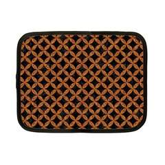 CIRCLES3 BLACK MARBLE & RUSTED METAL (R) Netbook Case (Small)