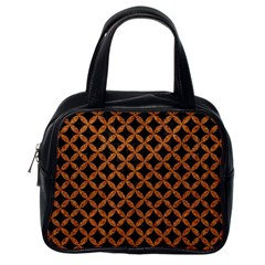 CIRCLES3 BLACK MARBLE & RUSTED METAL (R) Classic Handbags (One Side)