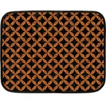 CIRCLES3 BLACK MARBLE & RUSTED METAL (R) Fleece Blanket (Mini)