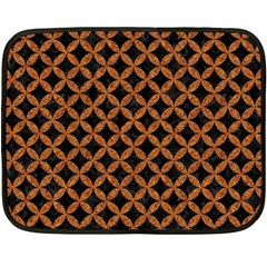CIRCLES3 BLACK MARBLE & RUSTED METAL (R) Double Sided Fleece Blanket (Mini)