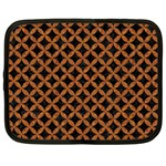 CIRCLES3 BLACK MARBLE & RUSTED METAL (R) Netbook Case (XL)