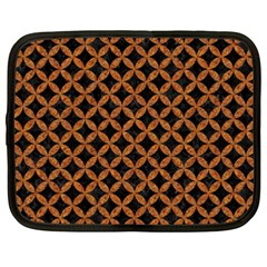 CIRCLES3 BLACK MARBLE & RUSTED METAL (R) Netbook Case (XXL)