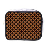 CIRCLES3 BLACK MARBLE & RUSTED METAL (R) Mini Toiletries Bags