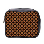 CIRCLES3 BLACK MARBLE & RUSTED METAL (R) Mini Toiletries Bag 2-Side