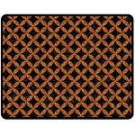 CIRCLES3 BLACK MARBLE & RUSTED METAL (R) Fleece Blanket (Medium)