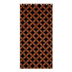 CIRCLES3 BLACK MARBLE & RUSTED METAL (R) Shower Curtain 36  x 72  (Stall)