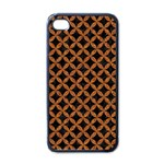 CIRCLES3 BLACK MARBLE & RUSTED METAL (R) Apple iPhone 4 Case (Black)