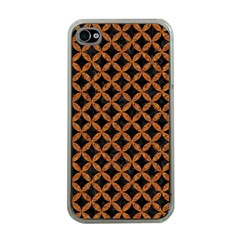 CIRCLES3 BLACK MARBLE & RUSTED METAL (R) Apple iPhone 4 Case (Clear)