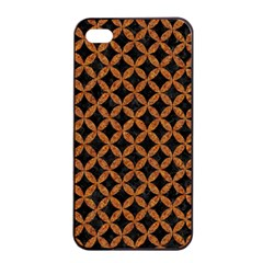 CIRCLES3 BLACK MARBLE & RUSTED METAL (R) Apple iPhone 4/4s Seamless Case (Black)