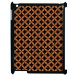 CIRCLES3 BLACK MARBLE & RUSTED METAL (R) Apple iPad 2 Case (Black)