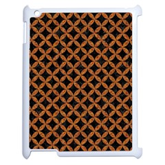 Circles3 Black Marble & Rusted Metal (r) Apple Ipad 2 Case (white)