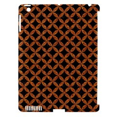 CIRCLES3 BLACK MARBLE & RUSTED METAL (R) Apple iPad 3/4 Hardshell Case (Compatible with Smart Cover)