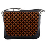 CIRCLES3 BLACK MARBLE & RUSTED METAL (R) Messenger Bags