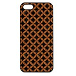 CIRCLES3 BLACK MARBLE & RUSTED METAL (R) Apple iPhone 5 Seamless Case (Black)