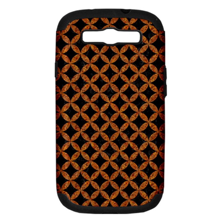 CIRCLES3 BLACK MARBLE & RUSTED METAL (R) Samsung Galaxy S III Hardshell Case (PC+Silicone)