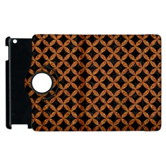 Circles3 Black Marble & Rusted Metal (r) Apple Ipad 2 Flip 360 Case by trendistuff