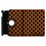 CIRCLES3 BLACK MARBLE & RUSTED METAL (R) Apple iPad 3/4 Flip 360 Case
