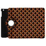 CIRCLES3 BLACK MARBLE & RUSTED METAL (R) Apple iPad Mini Flip 360 Case