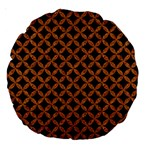 CIRCLES3 BLACK MARBLE & RUSTED METAL (R) Large 18  Premium Round Cushions