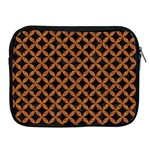 CIRCLES3 BLACK MARBLE & RUSTED METAL (R) Apple iPad 2/3/4 Zipper Cases