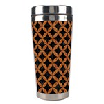 CIRCLES3 BLACK MARBLE & RUSTED METAL (R) Stainless Steel Travel Tumblers