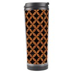 CIRCLES3 BLACK MARBLE & RUSTED METAL (R) Travel Tumbler