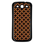 CIRCLES3 BLACK MARBLE & RUSTED METAL (R) Samsung Galaxy S3 Back Case (Black)