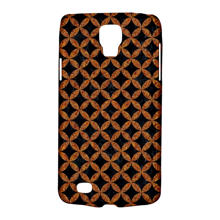 CIRCLES3 BLACK MARBLE & RUSTED METAL (R) Galaxy S4 Active