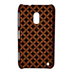 Circles3 Black Marble & Rusted Metal (r) Nokia Lumia 620 by trendistuff