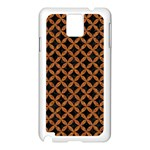 CIRCLES3 BLACK MARBLE & RUSTED METAL (R) Samsung Galaxy Note 3 N9005 Case (White)