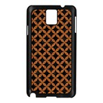 CIRCLES3 BLACK MARBLE & RUSTED METAL (R) Samsung Galaxy Note 3 N9005 Case (Black)