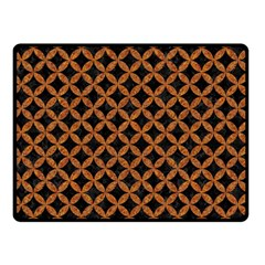 CIRCLES3 BLACK MARBLE & RUSTED METAL (R) Double Sided Fleece Blanket (Small)