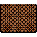 CIRCLES3 BLACK MARBLE & RUSTED METAL (R) Double Sided Fleece Blanket (Medium)