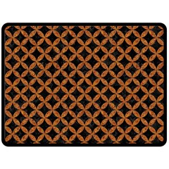 Circles3 Black Marble & Rusted Metal (r) Double Sided Fleece Blanket (large)  by trendistuff