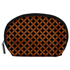 CIRCLES3 BLACK MARBLE & RUSTED METAL (R) Accessory Pouches (Large)