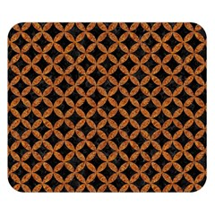 CIRCLES3 BLACK MARBLE & RUSTED METAL (R) Double Sided Flano Blanket (Small)