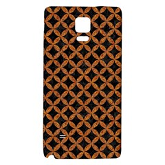 CIRCLES3 BLACK MARBLE & RUSTED METAL (R) Galaxy Note 4 Back Case