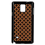 CIRCLES3 BLACK MARBLE & RUSTED METAL (R) Samsung Galaxy Note 4 Case (Black)