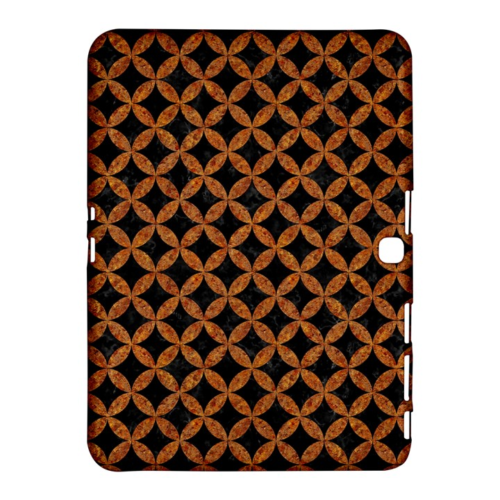 CIRCLES3 BLACK MARBLE & RUSTED METAL (R) Samsung Galaxy Tab 4 (10.1 ) Hardshell Case