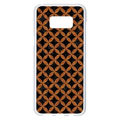CIRCLES3 BLACK MARBLE & RUSTED METAL (R) Samsung Galaxy S8 Plus White Seamless Case