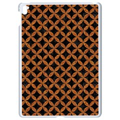 CIRCLES3 BLACK MARBLE & RUSTED METAL (R) Apple iPad Pro 9.7   White Seamless Case