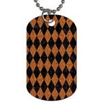 DIAMOND1 BLACK MARBLE & RUSTED METAL Dog Tag (One Side)