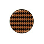 DIAMOND1 BLACK MARBLE & RUSTED METAL Hat Clip Ball Marker