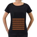 DIAMOND1 BLACK MARBLE & RUSTED METAL Women s Loose-Fit T-Shirt (Black)