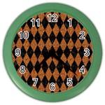 DIAMOND1 BLACK MARBLE & RUSTED METAL Color Wall Clocks